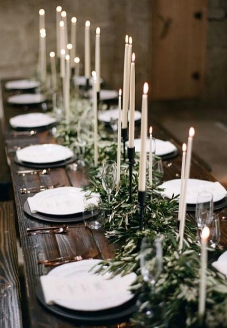30 Beautiful Winter Table Decoration Ideas Bruiloft Tabel