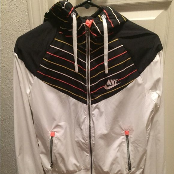 448190b9514c Nike women s jacket Women s Nike windrunner jacket - like new condition.  White black - yellow neon orange lines. Full zipper