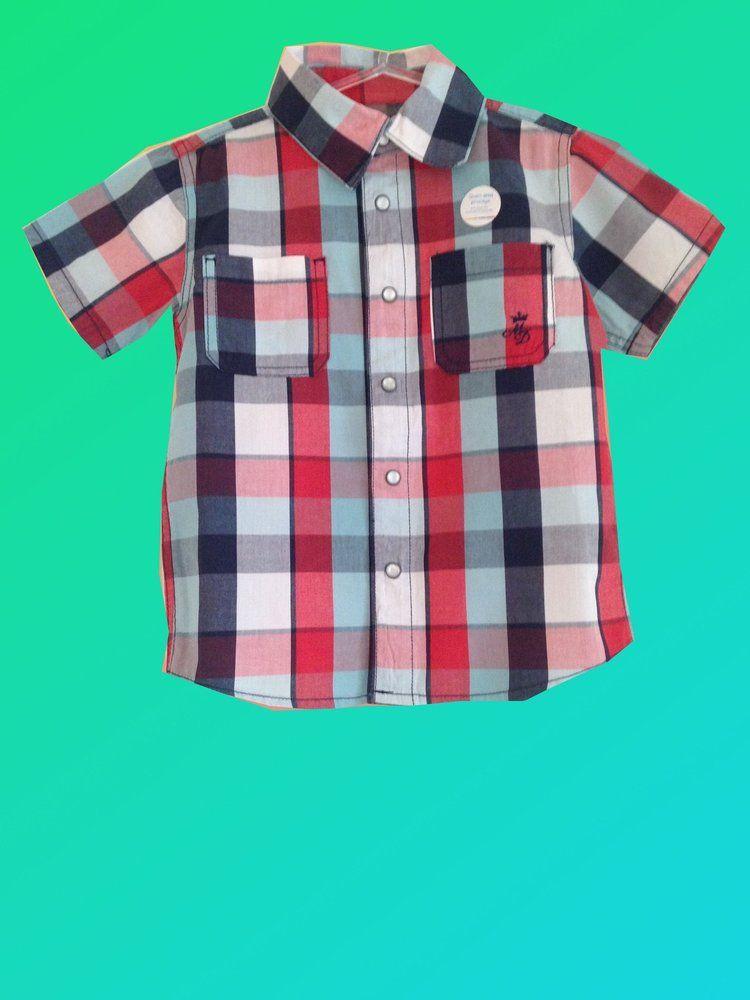 Camisa Xadrez Menino Brandili Mundi | Roupas de criança | Pinterest