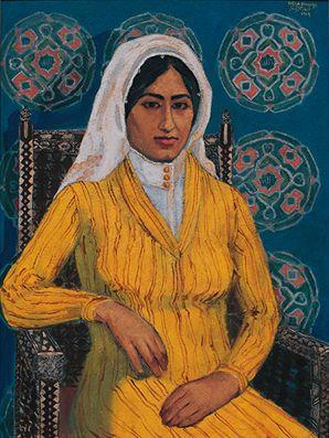 الموناليزا الحجازية لوحة لـ صفية بن زقر ١٩٦٩ Art Most Famous Paintings Art History