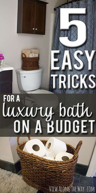 5 Easy Steps To A Luxury Guest Bathroom On A Budget Bathroom Organisation Budget Bathroom Home Diy