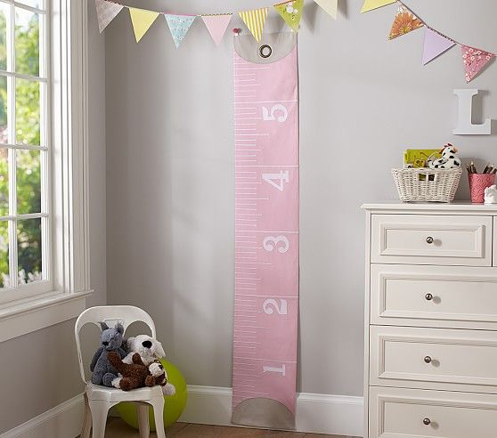 Pink measuring tape growth chart pottery barn kids could craft