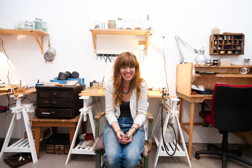 Jen Goff - founder of Takara Design and Paper Wings Jewelry. Portland, Ore.
