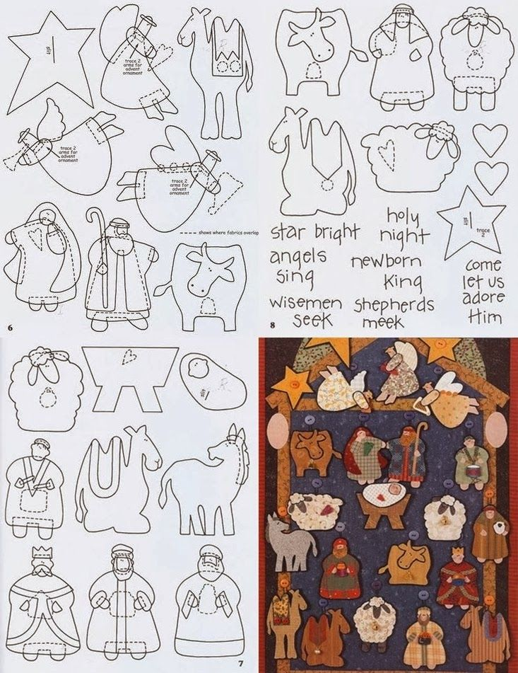Patrones de navidad para hacer con fieltro | costura y tejido ...