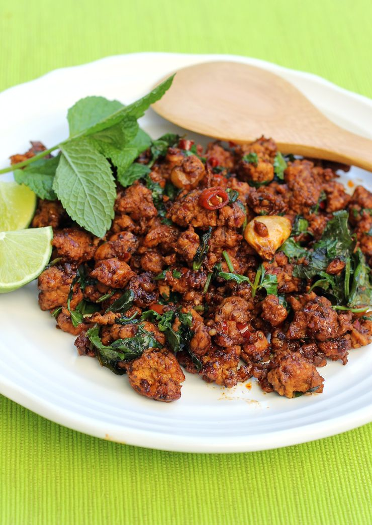 Loads Of Mint And Cilantro Give This Minced Chicken Dish Vibrancy