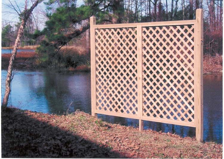 Outdoor vinyl lattice privacy screens ft cap and trim for Lattice panel privacy screen