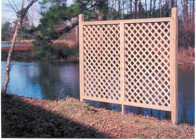 Custom Wood Fencing Decorative Screens Outdoor Vinyl Lattice