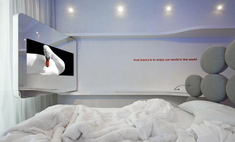 Architect Simone Micheli Has Designed A Swan Themed Hotel Room In