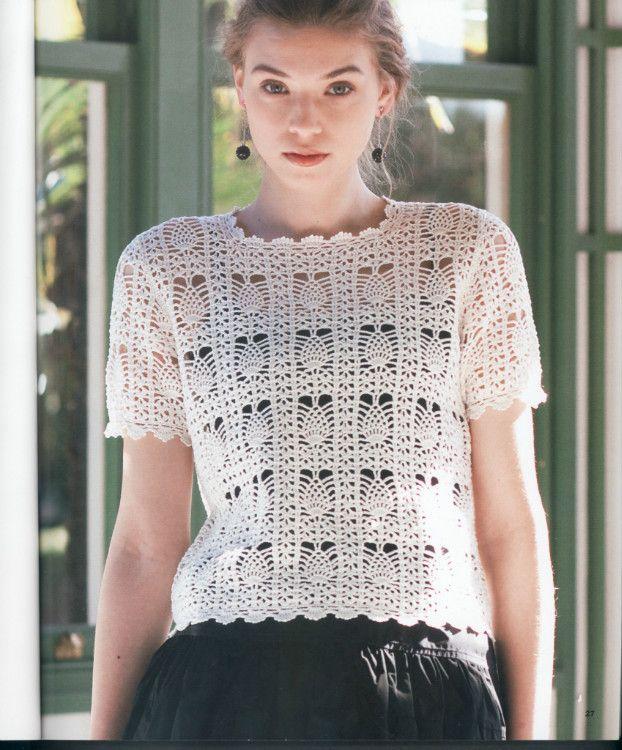 Blusa De Croche Simples E Sofisticada Crochet Top Blusas De