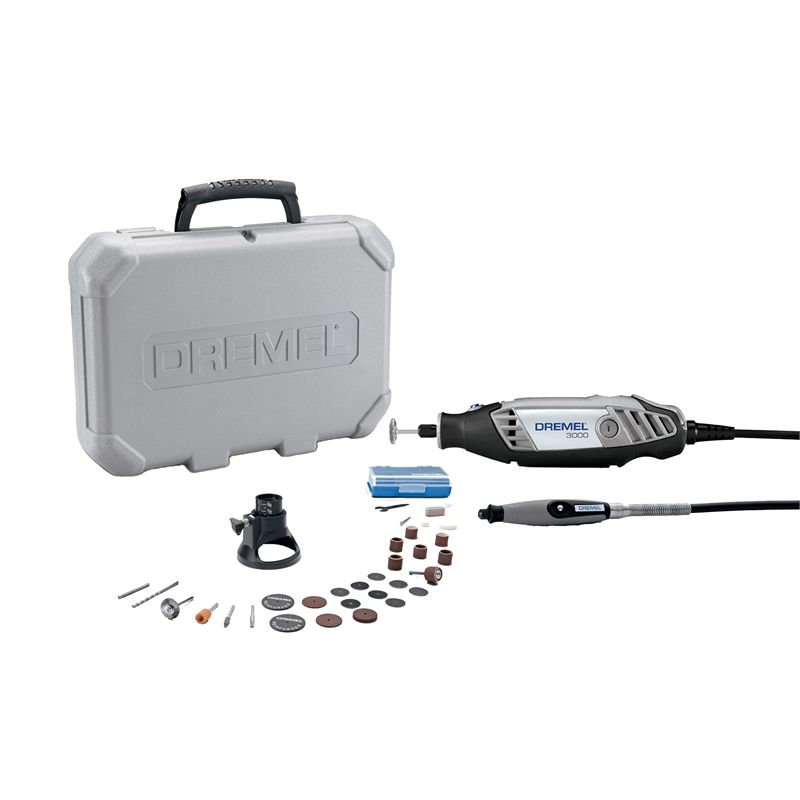 Dremel 130w 3000 2 30 Rotary Multi Tool Kit With 2 Attachments And 30 Accessories Dremel Dremel 3000 Rotary Tool