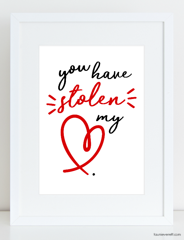 Love-themed Valentine's Prints available for immediate download. #valentine #valetineprint #valentinedecor