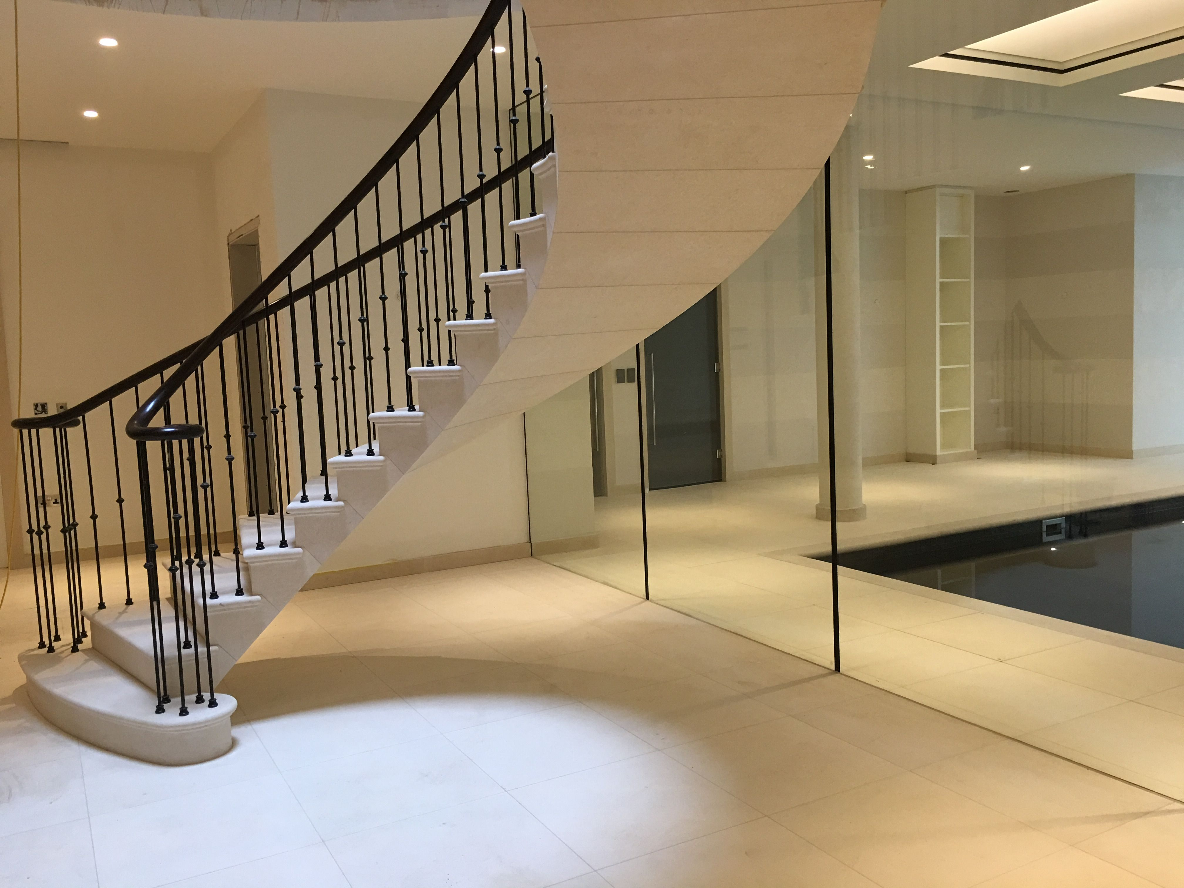 Post Tension Staircase In French Limestone