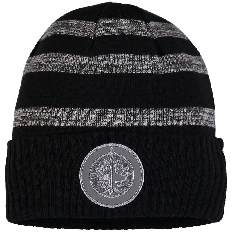 best service 7bfdf dd58b Winnipeg Jets Fanatics Branded Reflective Sneaker Cuffed Knit Hat –  Black Gray
