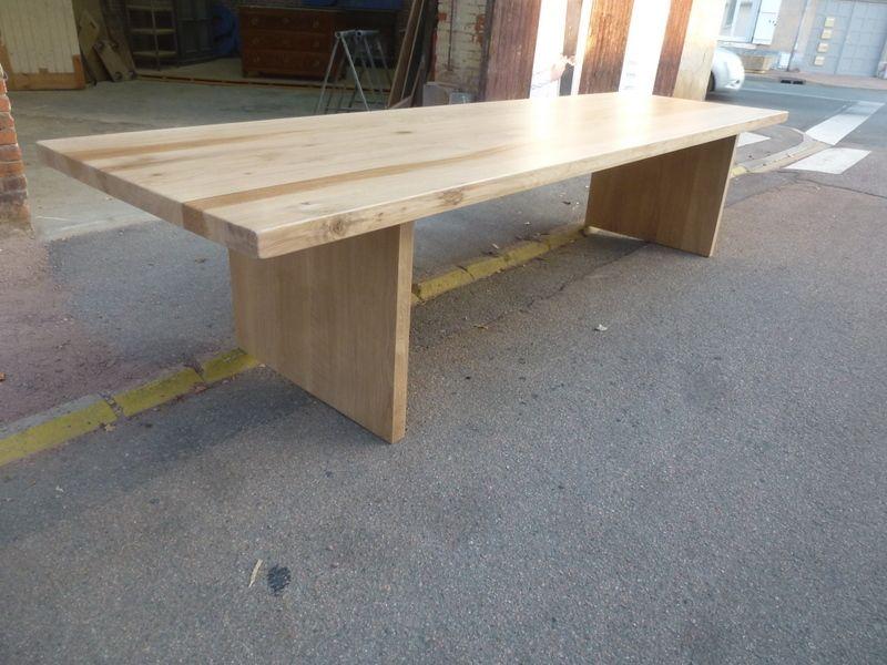 massif version chêne pieds mesure en sur table chêne L45jAR