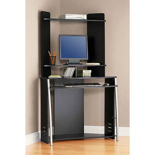 Mainstays Corner Computer Tower, Black // $39   desk ...