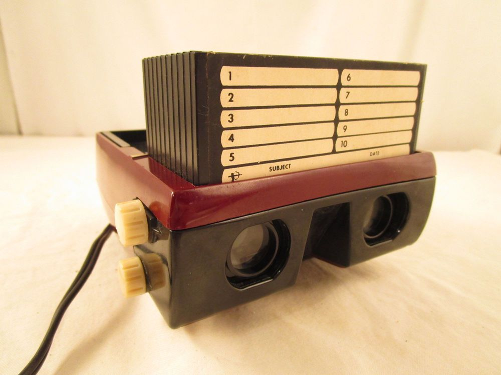 Vintage Electric Arrow View 3 D Automatic Stereo Viewer With