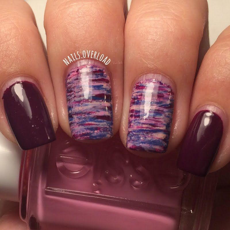 Gabrielle nails this awesome fan brush nail art using her gifted ...