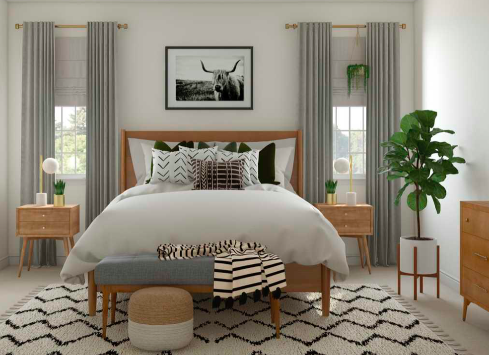 Eclectic Inspired Bedroom In 2020 Mid Century Modern Bedroom Modern Bedroom Inspiration Modern Bedroom Interior