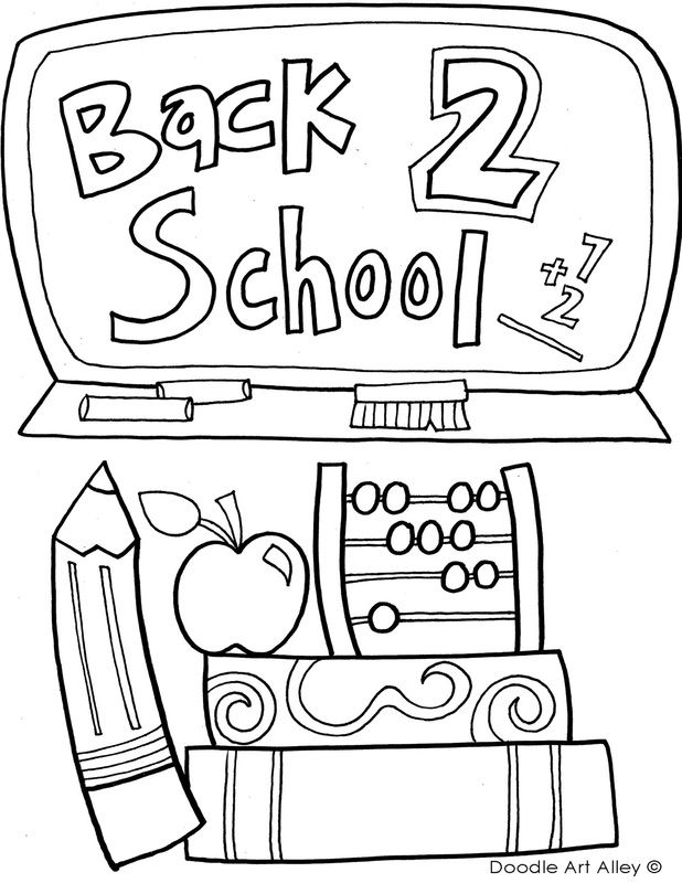 Back To School Coloring Pages Classroom Doodles Rhpinterest: Doodle Art Coloring Pages School At Baymontmadison.com