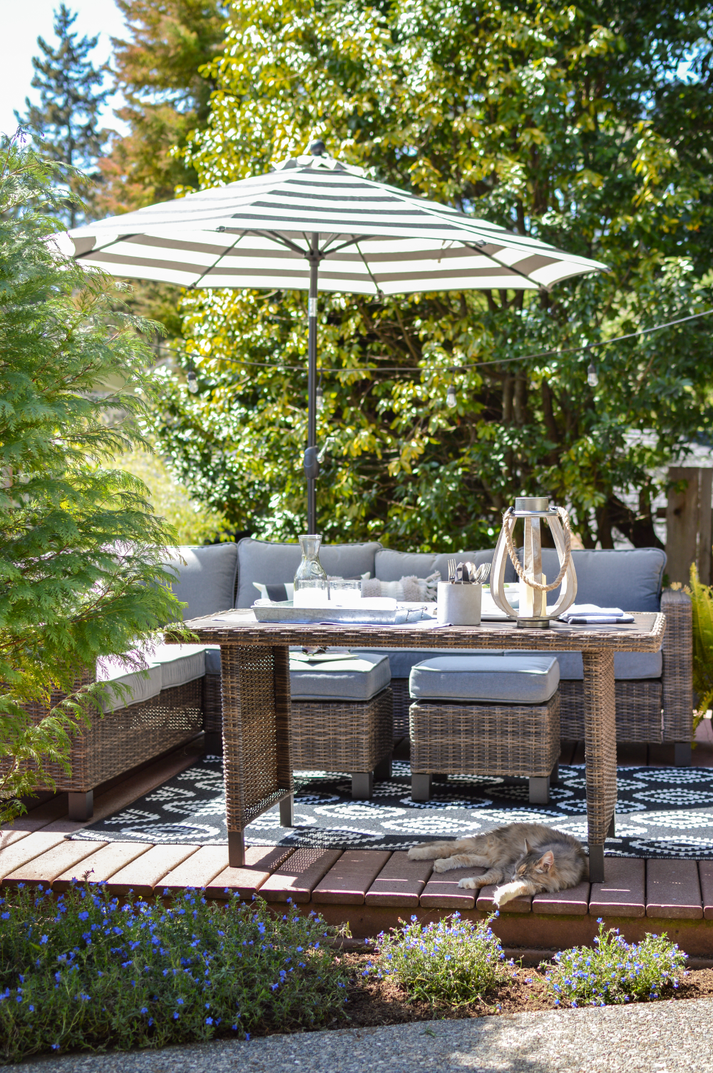 Everything You Need To Be Ready To Enjoy Your Porch And Patio Spaces Entertain And Relax Morning Til Night On A Budget With Better Homes Gardens Outdoor Furniture Ideas Backyards
