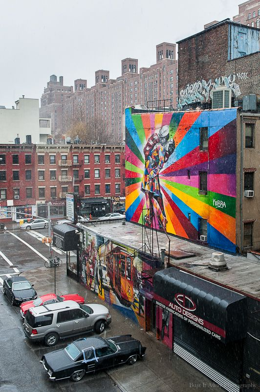 The colors walls of manhattan by bust it away - Callejero manhattan ...