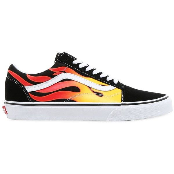 be9e19cbb7 Vans Women Flame Old Skool Sneakers ( 125) ❤ liked on Polyvore featuring  men s fashion