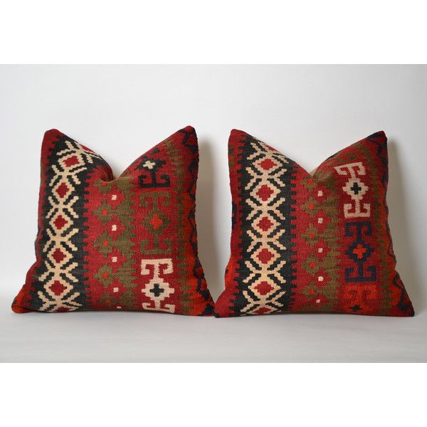 Red Kilim Pillow Covers Set Of 40 Decorative Kilim Pillows For Couch Delectable Maroon Decorative Pillows