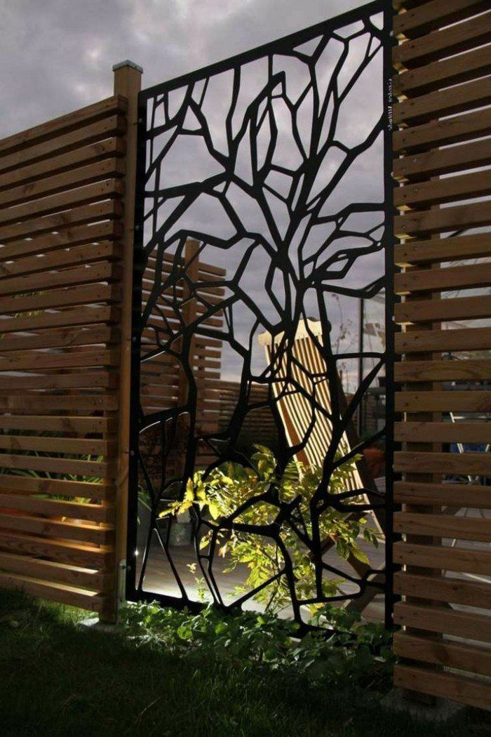 Paravent De Jardin Plus De 50 Idees Orginales Archzine Fr Paravent Jardin Amenagement Jardin Decoration Mur Exterieur