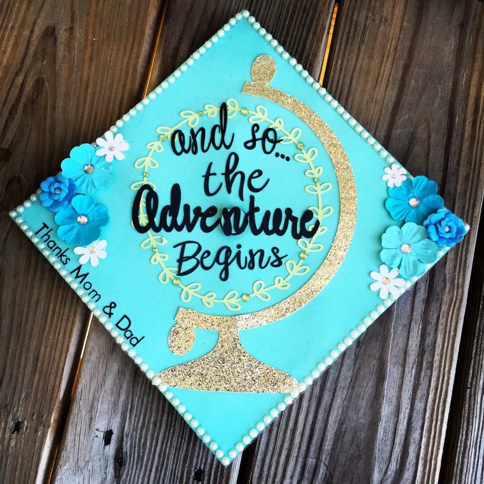 Graduation Cap Clever Girl: And So The Adventure Begins