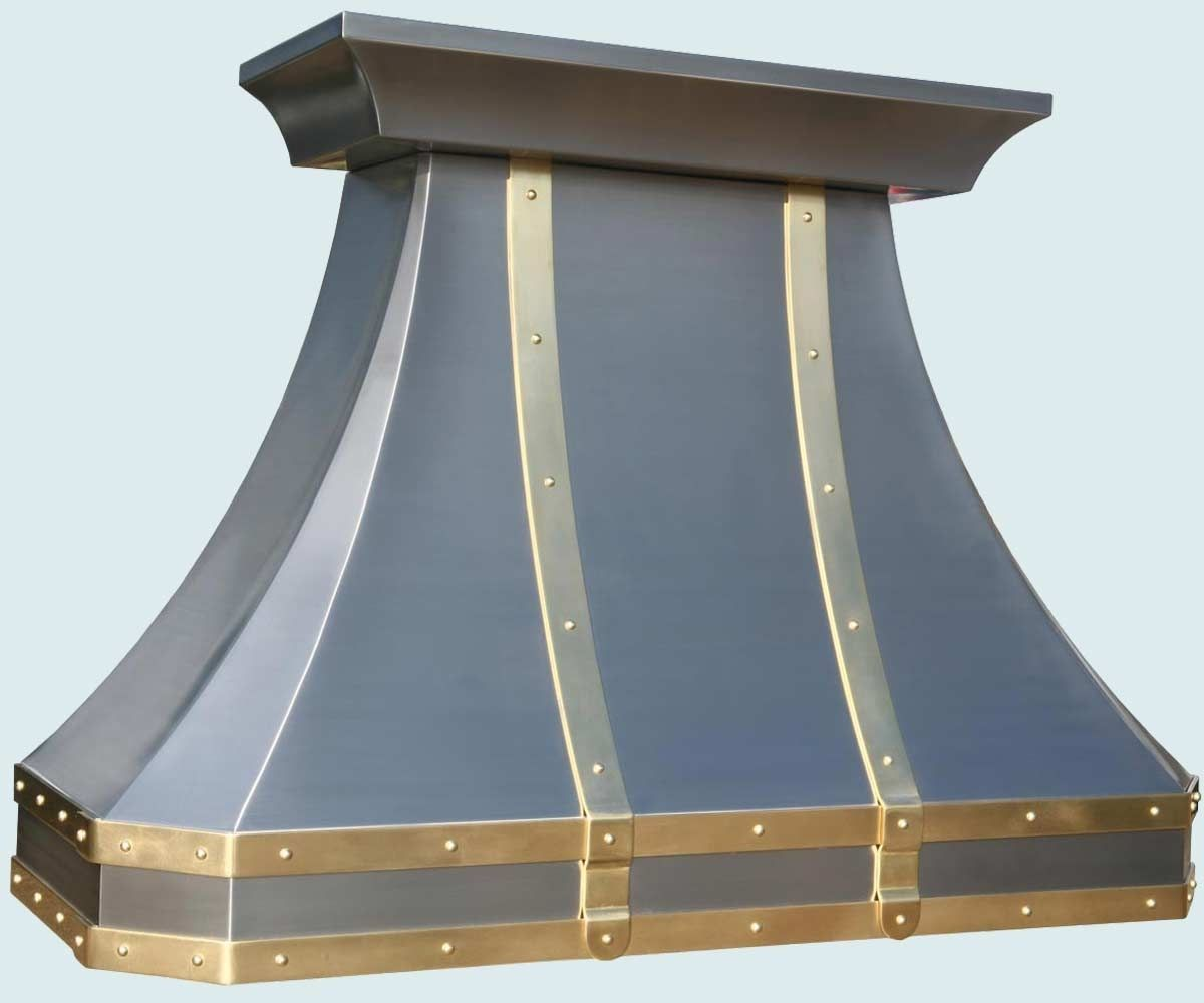 Hand Made Stainless Range Hood Brass Straps & Rivets by ... | RANGE ...