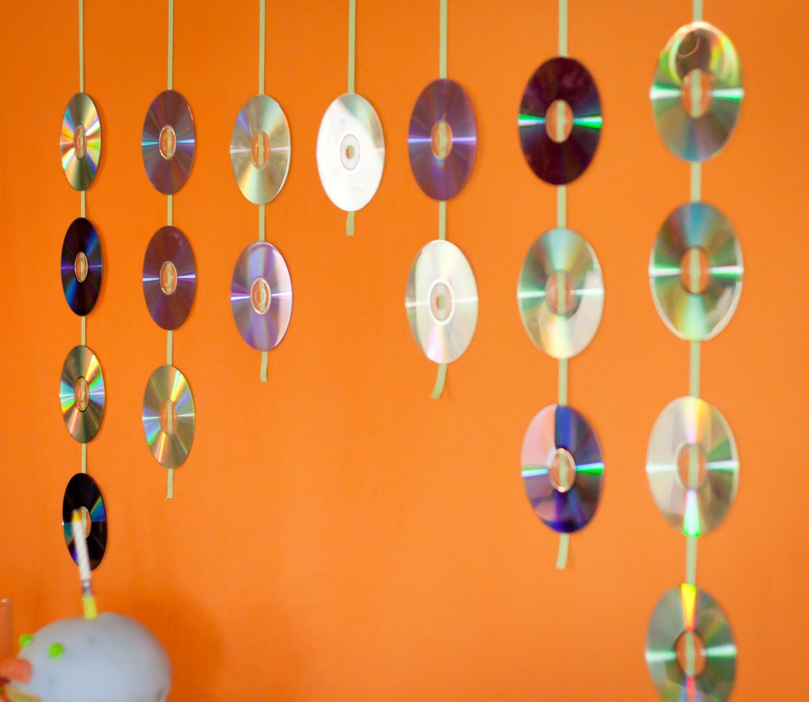 Music Themed Party Backdrop Using Blank Cds Photo Booth