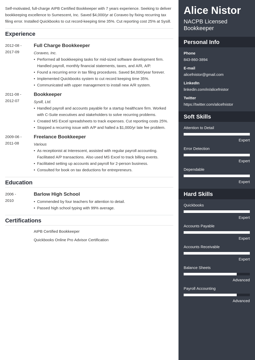 Bookkeeper Resume Example Template Enfold Resume Examples Resume Design Web Designer Resume