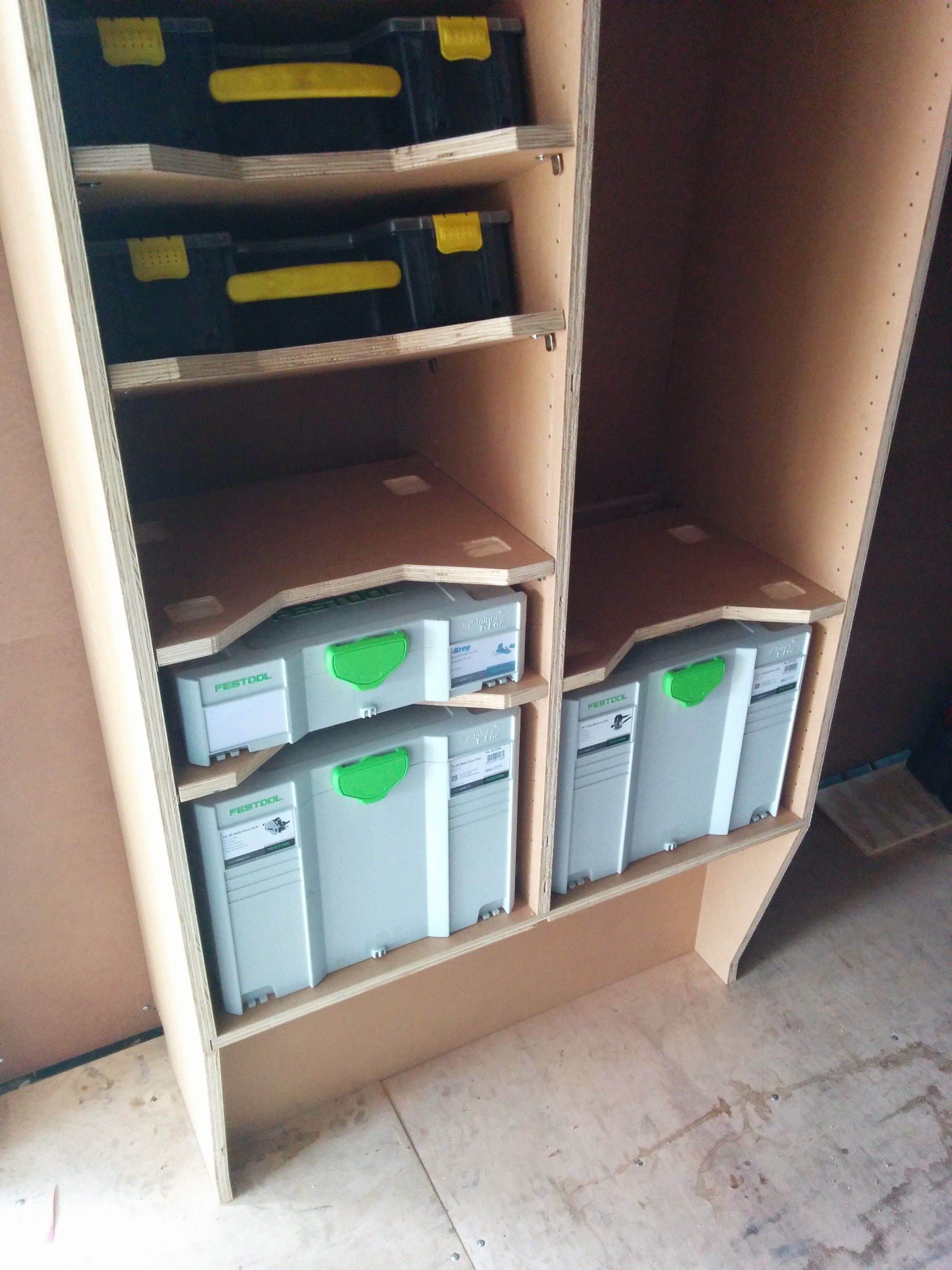 384741 Template For Shelves In Quot Festool Rack Quot For Van