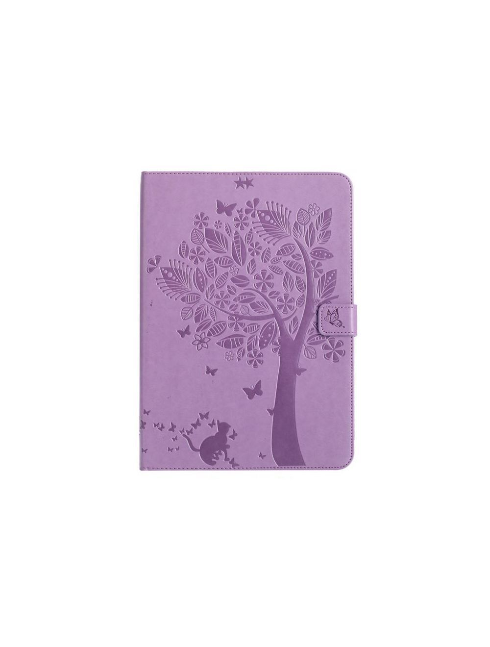 Luxury Cartoon Cat and Tree Leather Flip Cover Case For Apple iPad 9.7