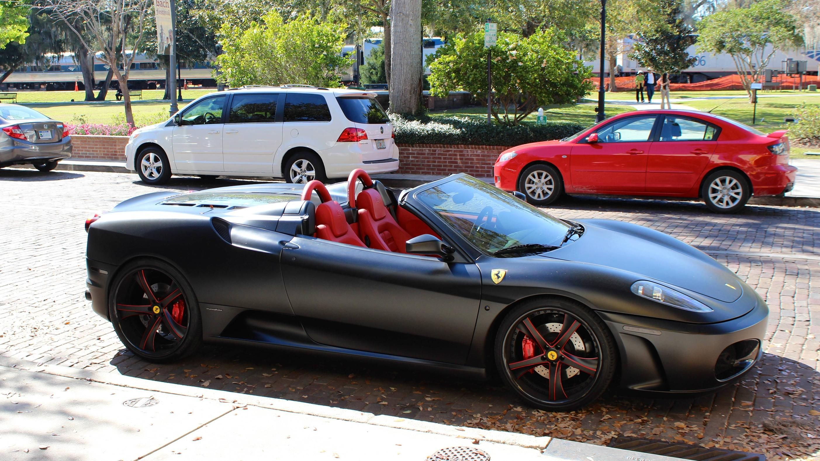 Matte Black Ferrari F430 In Winter Park FL. -Like Cars? We