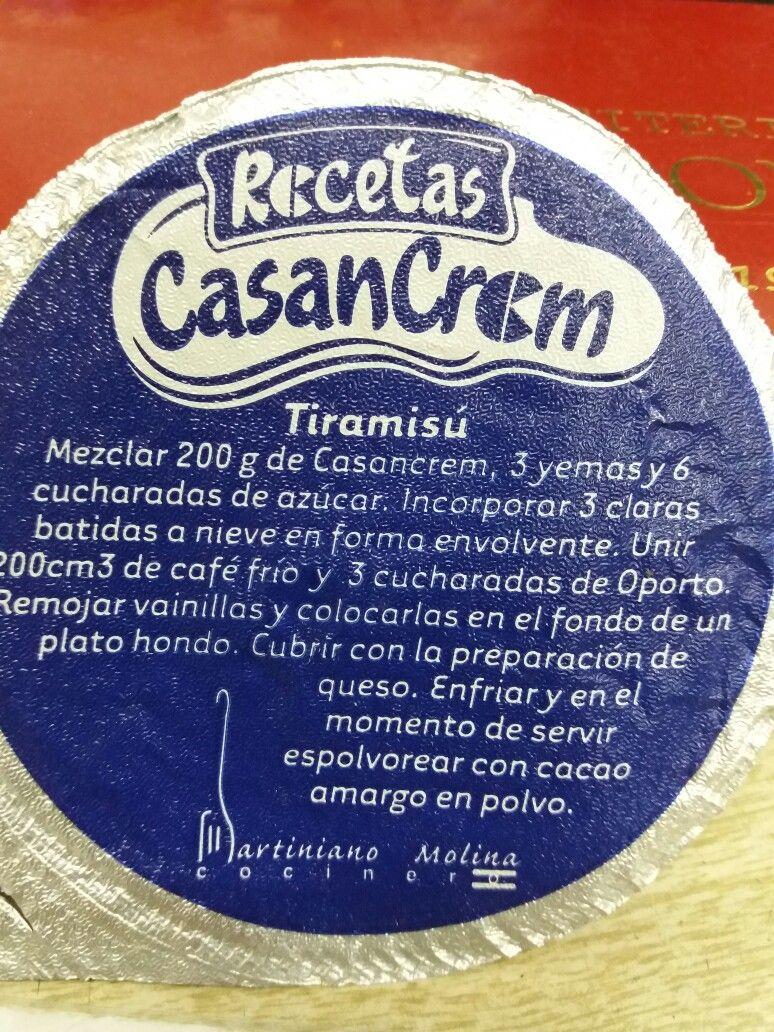 Pin de Patricia Calabria en Receta tiramisu | Recetas faciles postres, Tiramisú  receta, Casancrem