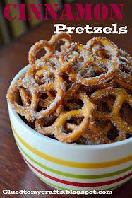 Glued to my Crafts: Cinnamon Pretzels-12 Days {1}