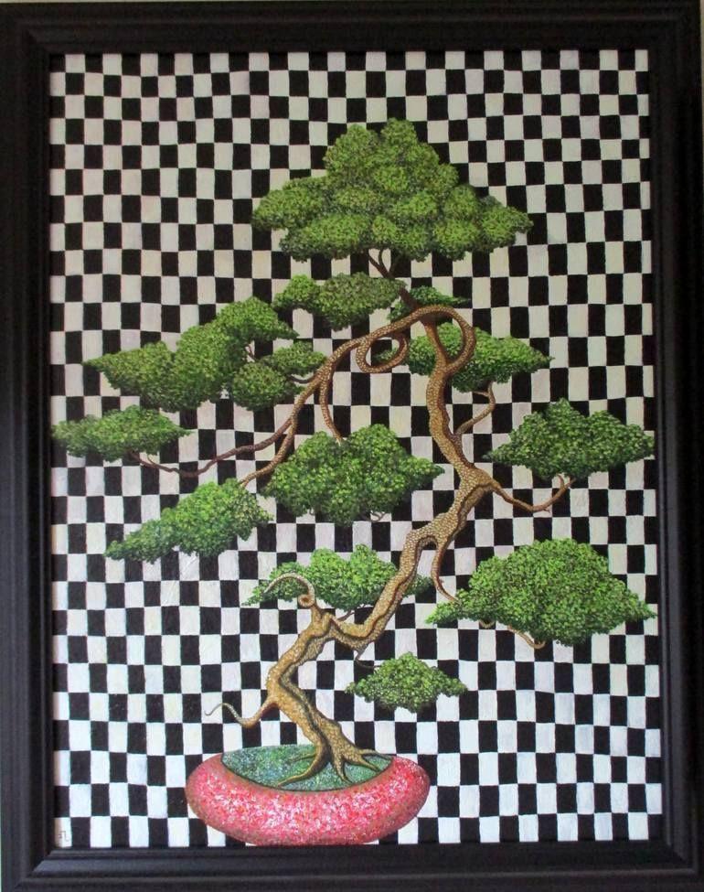 Original Tree Painting by Alasdair Macdonald | Realism Art on Canvas | Bonsai#al...#alasdair #art #bonsaial #canvas #macdonald #original #painting #realism #tree