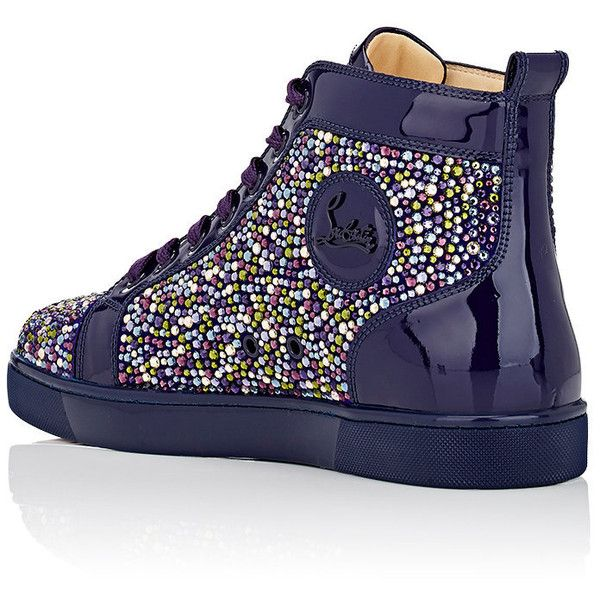 1a07a7d391c75 Christian Louboutin Men s Louis Flat Patent Leather Sneakers ( 3