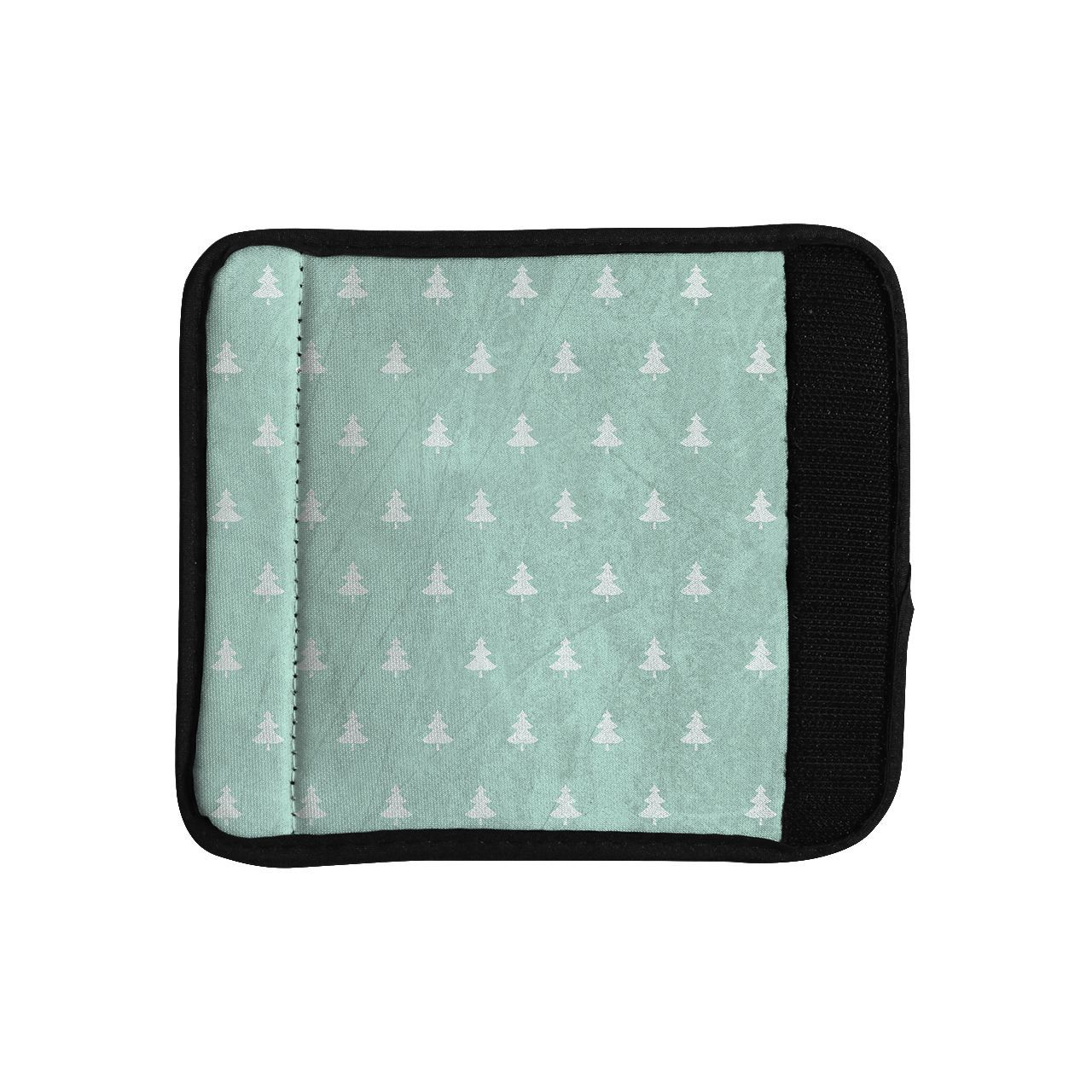Kess InHouse Snap Studio 'Pine Pattern Aqua' Luggage Handle Wrap