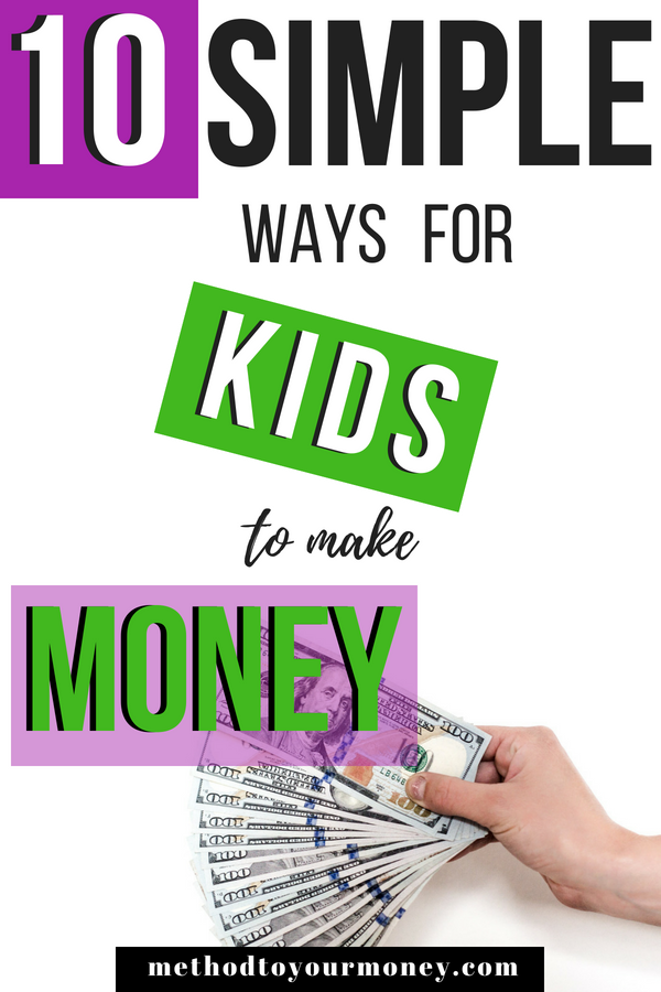 easy ways to make money in the summer for kids