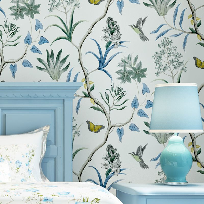 Sale American Country Style Wallpapers Floral Bird Vintage Non