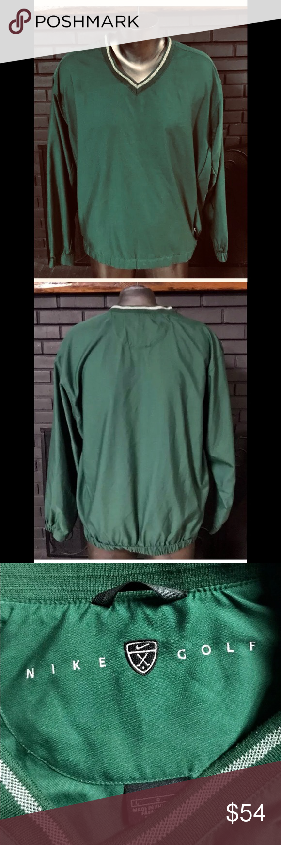 Vintage Nike Pullover Jacket Green L Vintage Nike Pullover Jacket Green Jacket