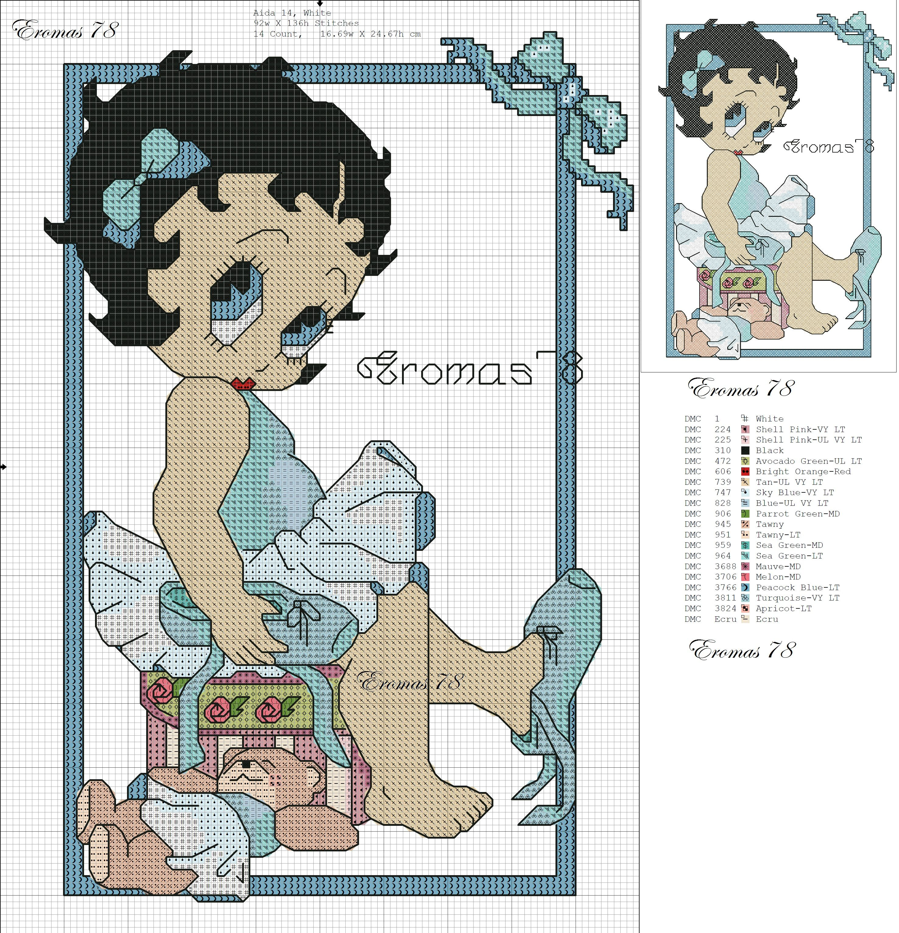 Blogp pixels Cross Stitch Pinterest Betty boop