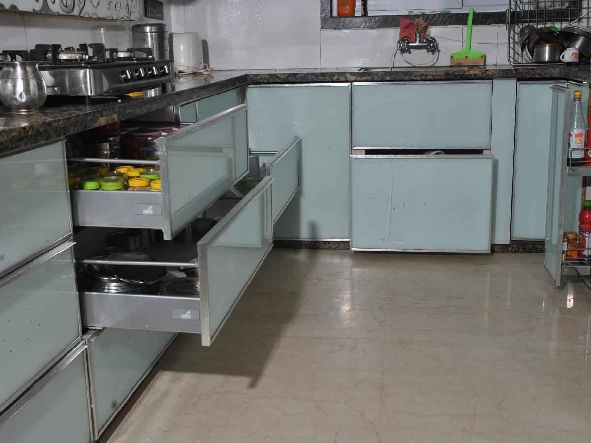 Kitchen window kerala  large kitchen with drawers by  interiors interiors interior