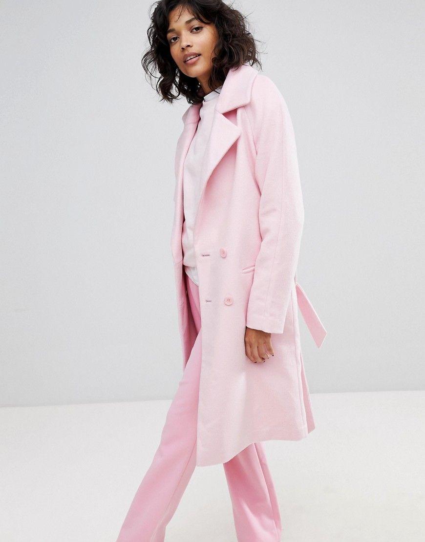 trenchcoat rosa vithree