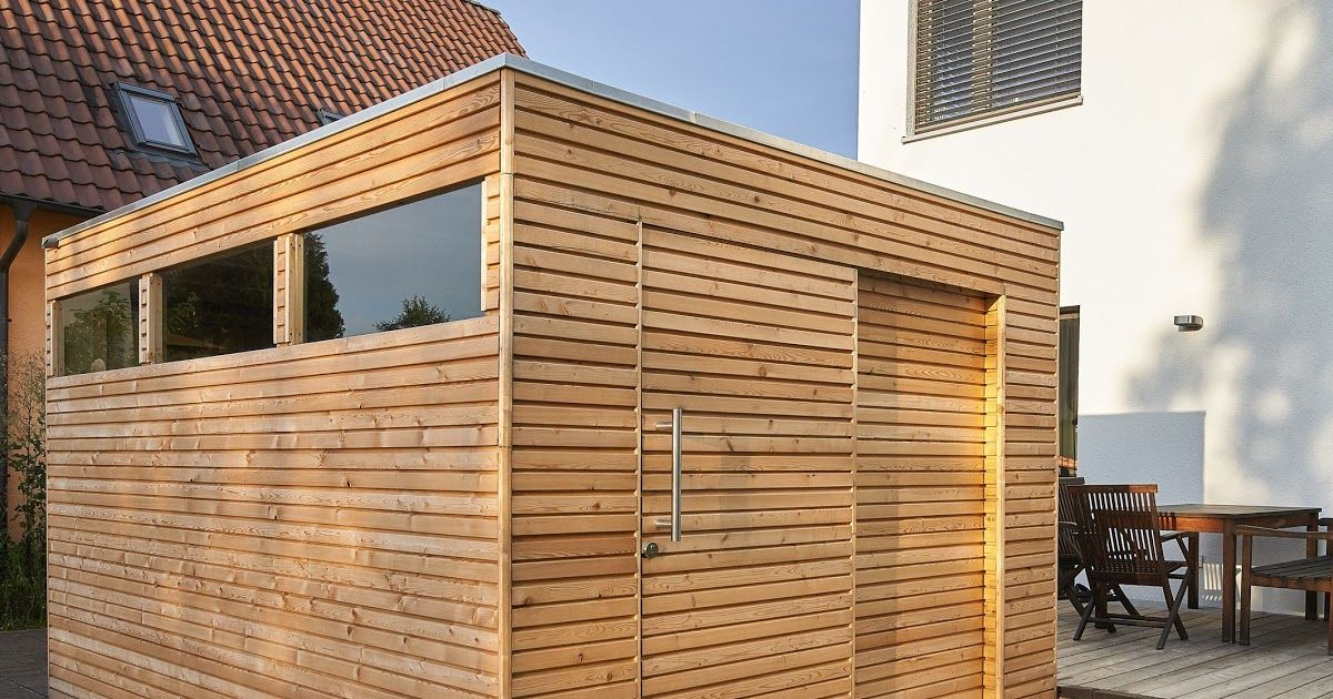 Gartenhaus Holz Flachdach Modern in 2020 Design