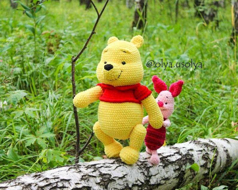 winnie the pooh  pdf crochet pattern  english  cotton