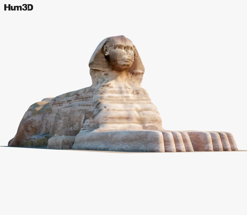3d Model Of Great Sphinx Of Giza In 2020 Giza Object Drawing