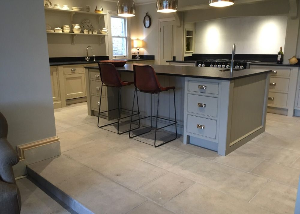 Image result for stone floor in kitchen Stone flooring